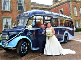 Vintage bus for weddings in Chesterfield